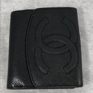 Authentic Channel Black Caviar Wallet